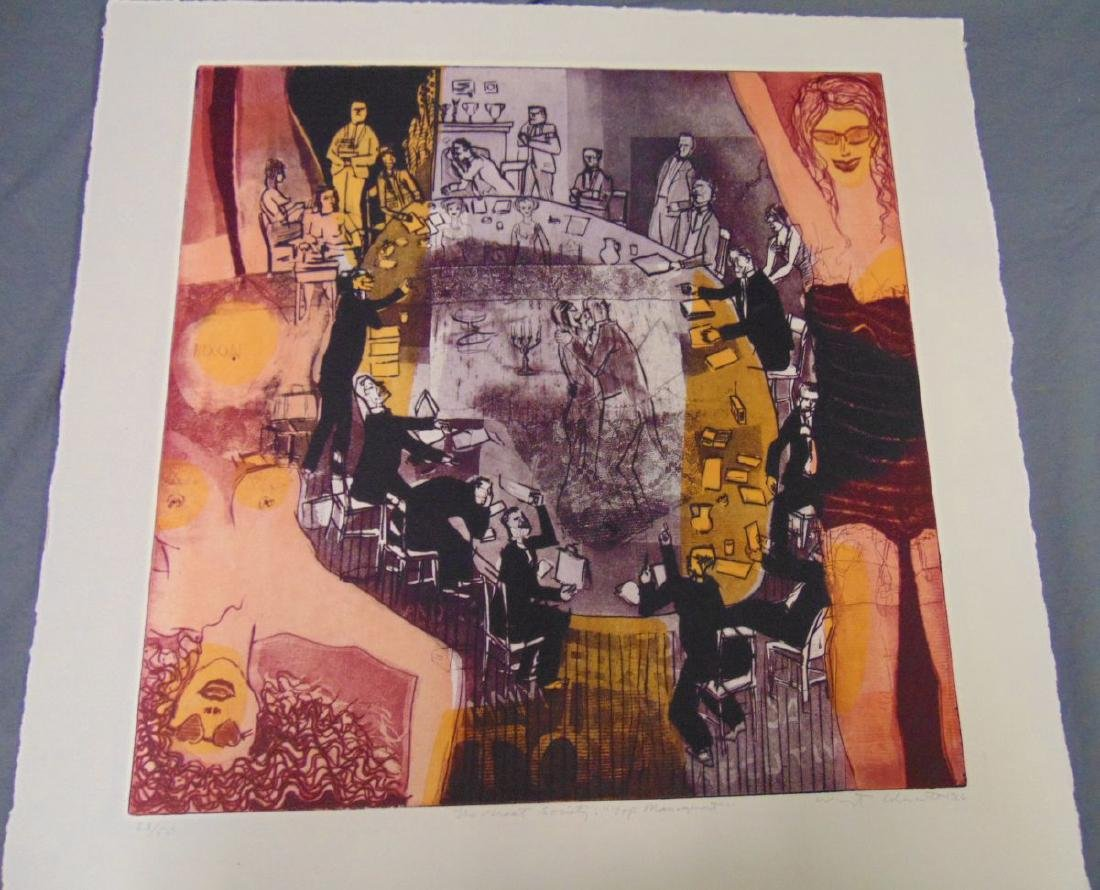 Warrington Colescott, Signed Colored Etching - 2