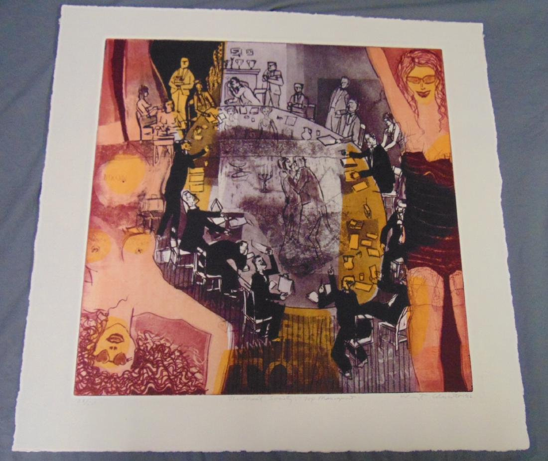 Warrington Colescott, Signed Colored Etching - 3