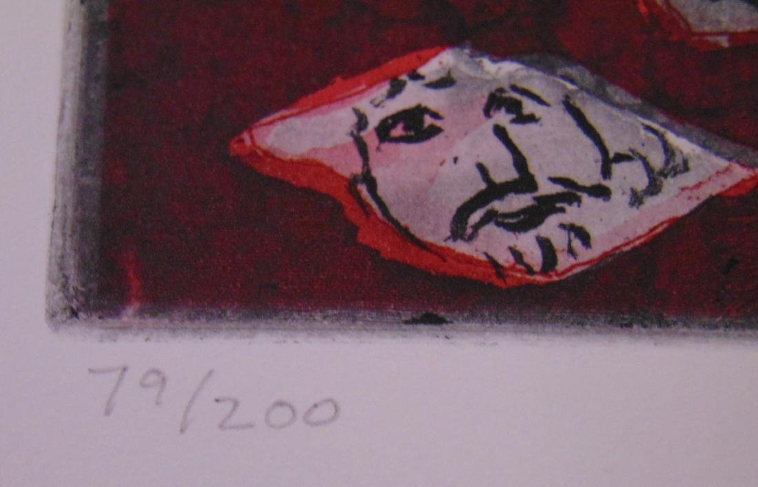 Warrington Colescott, Signed Colored Etching - 5