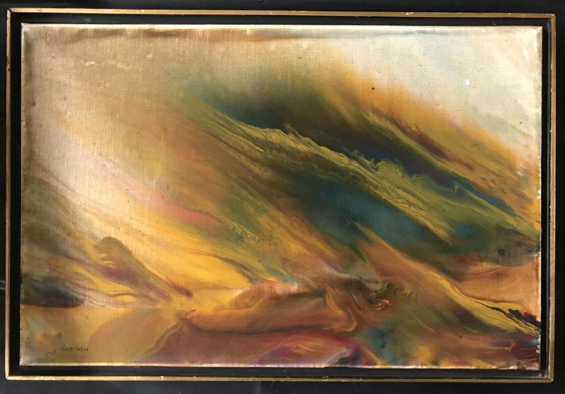 Farideh Lashai  (born 1944) Oil on Canvas.