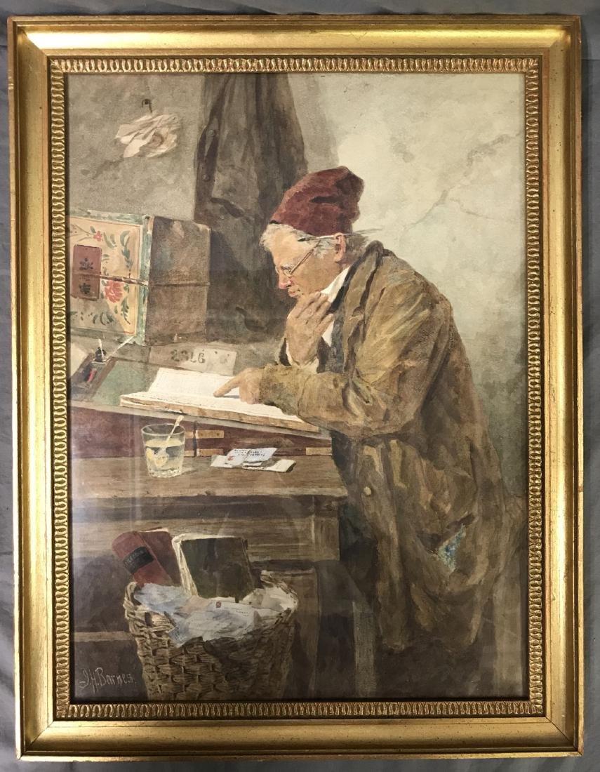Joseph H Barnes (fl.1867 - 1887) Watercolor.