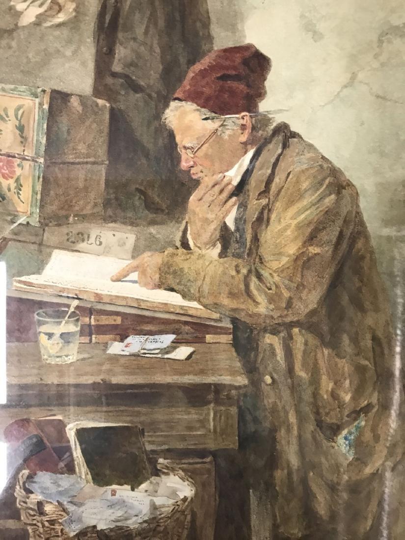 Joseph H Barnes (fl.1867 - 1887) Watercolor. - 2