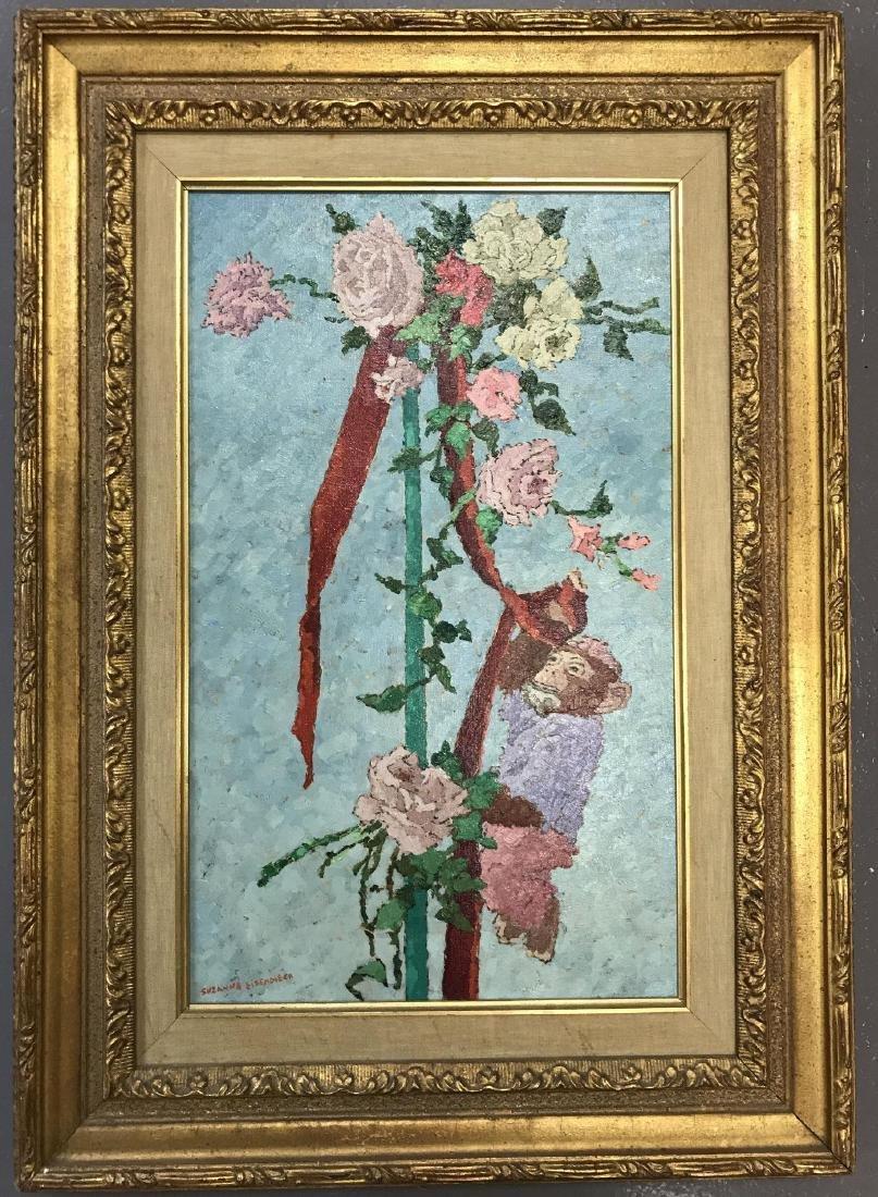 Suzanne Eisendieck (1908 - 1998) Oil on Canvas.