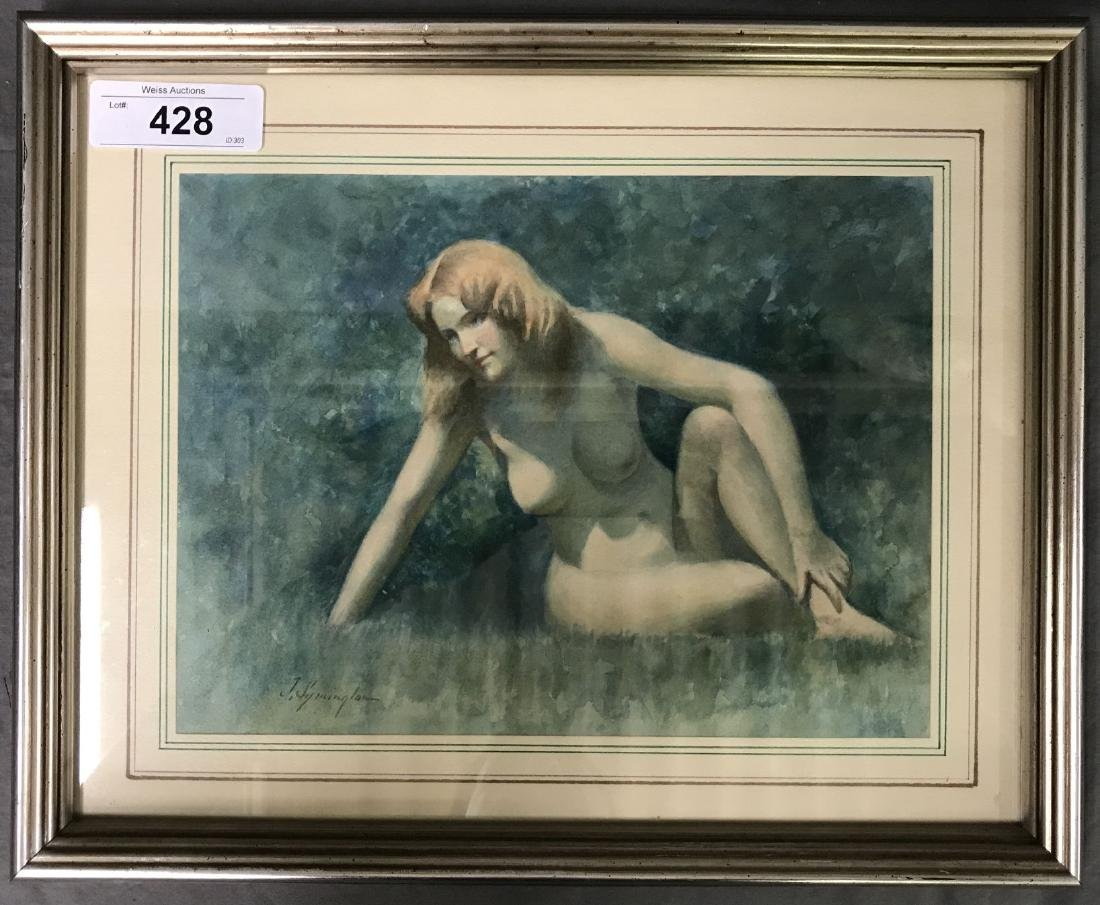 Juanita Symington  (1904 - 1980) Watercolor.