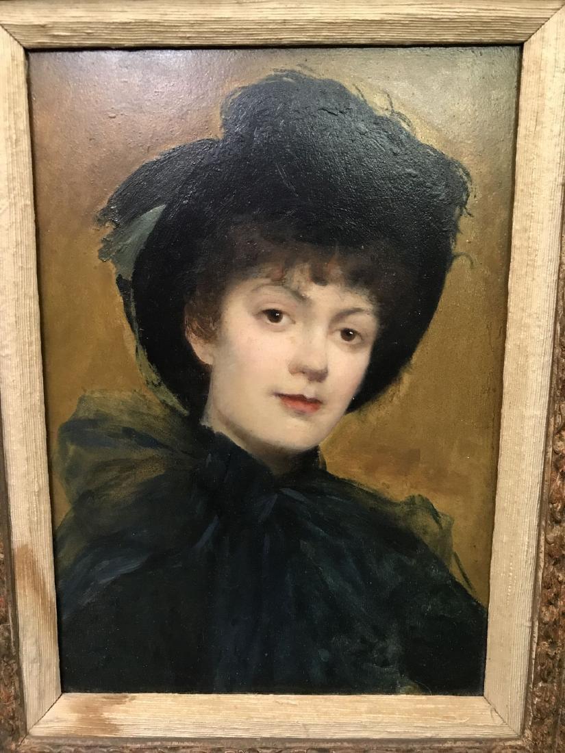 Albert Aublet  (1851 - 1938) Oil on Board. - 2