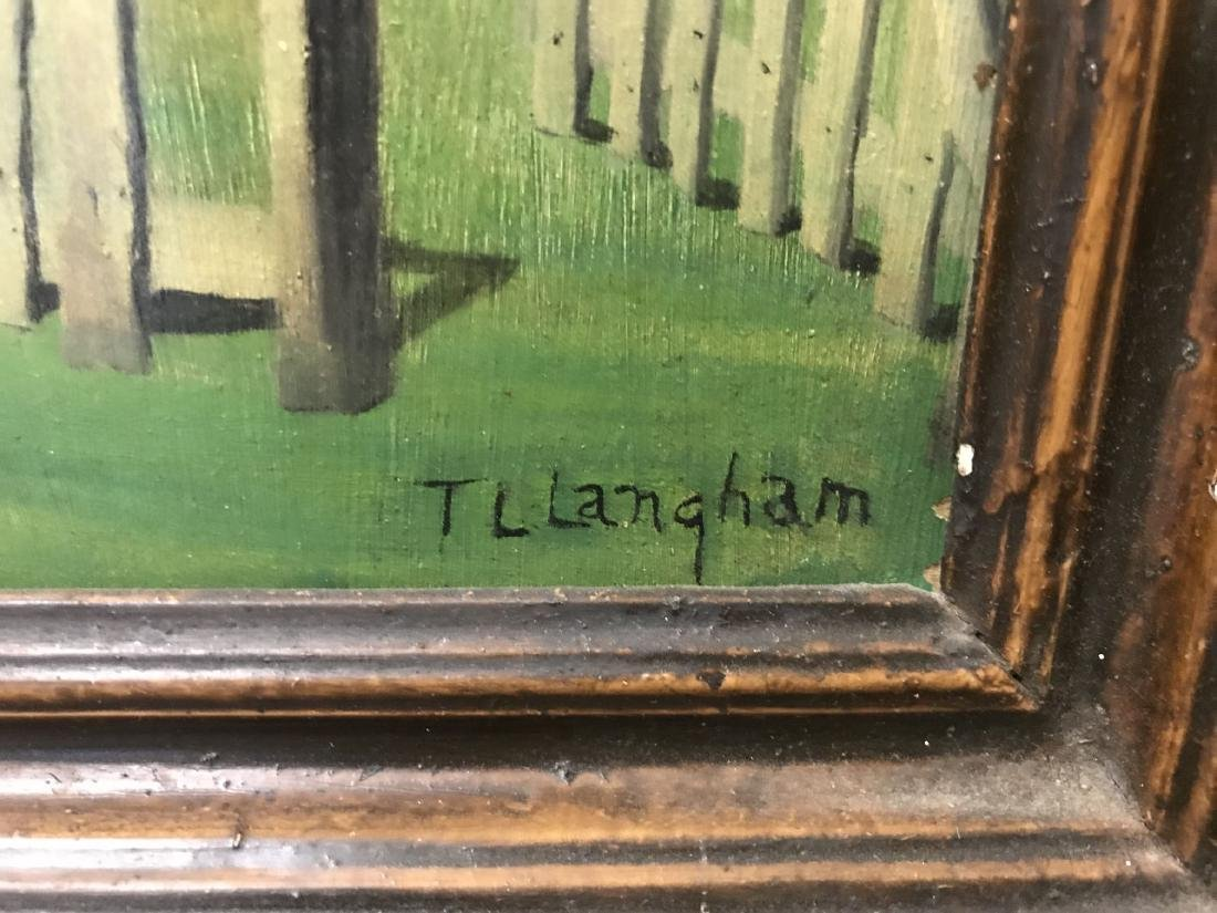 T. L. Langham. Folk Art Black Americana Painting. - 5