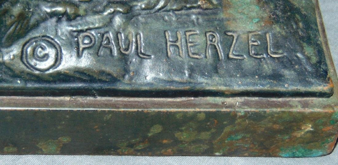 Paul Herzel  (1876 - 1956) Bronze Cowboy. - 5