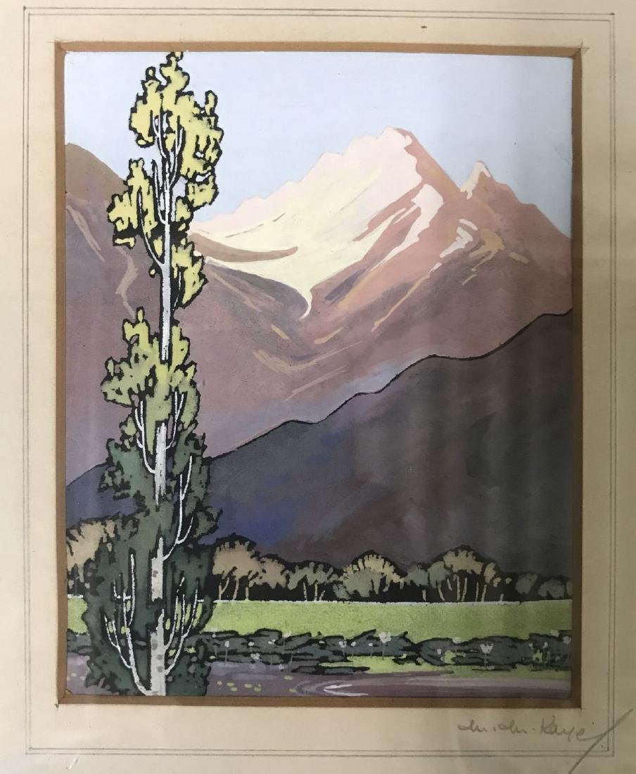 Gouache. Western Mountains.