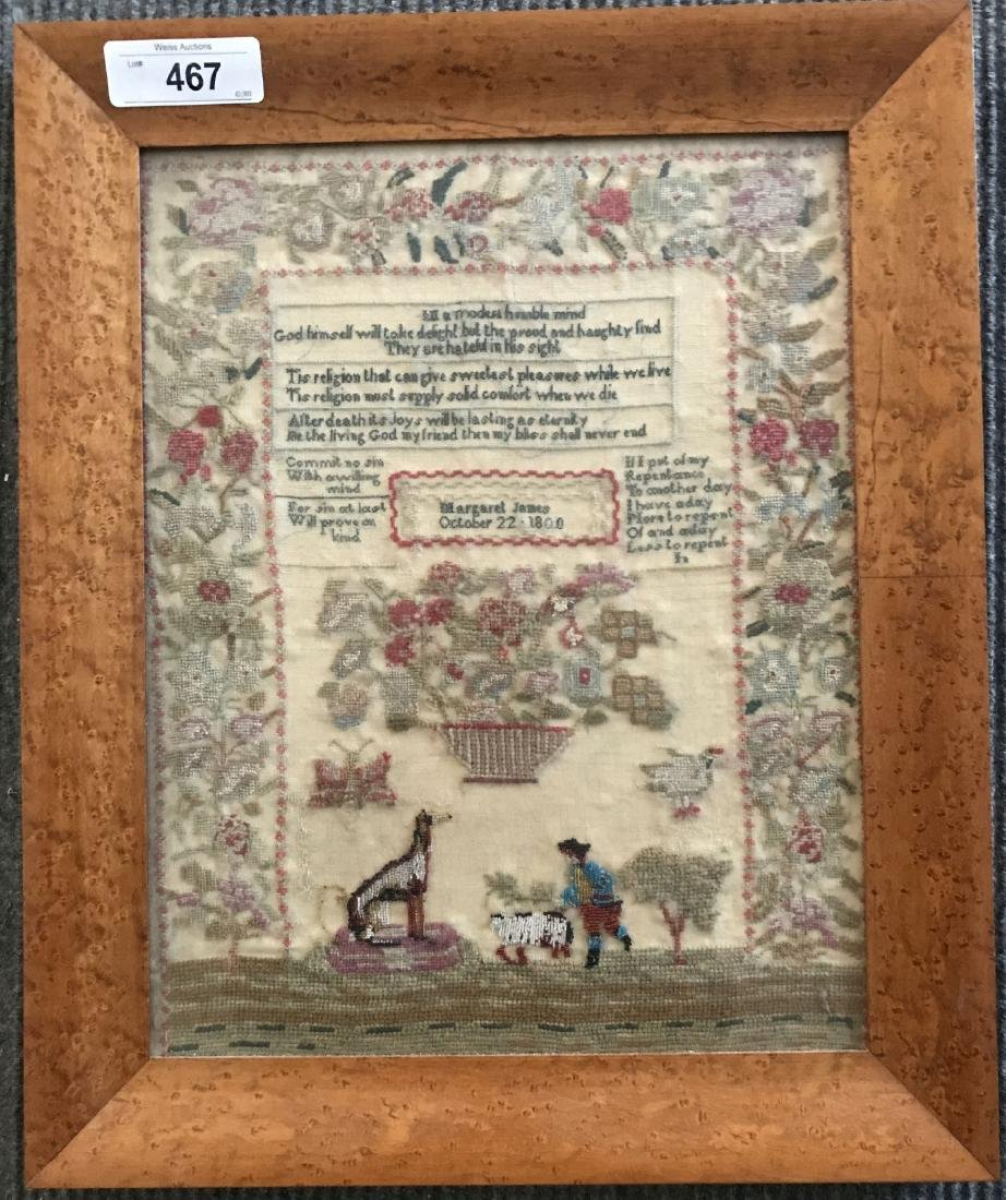 Early Sampler. Dated 1800