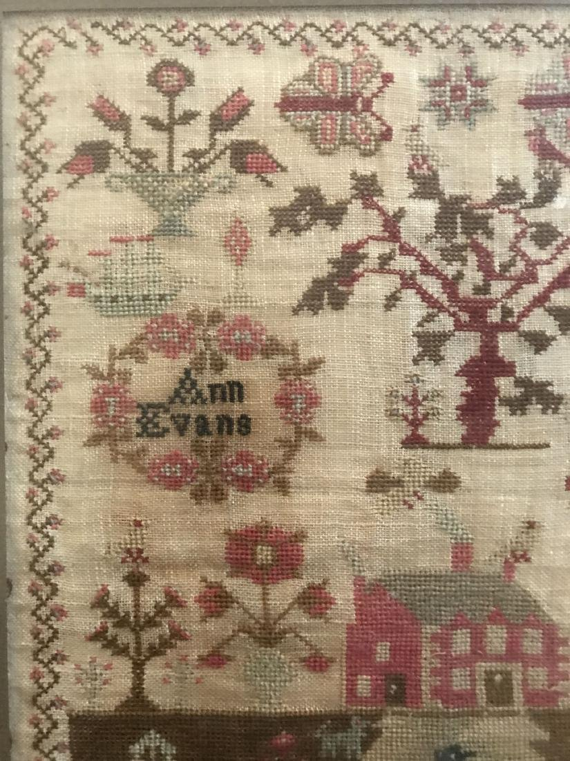 Early 19th Century Sampler. Ann Evans 1813. - 2