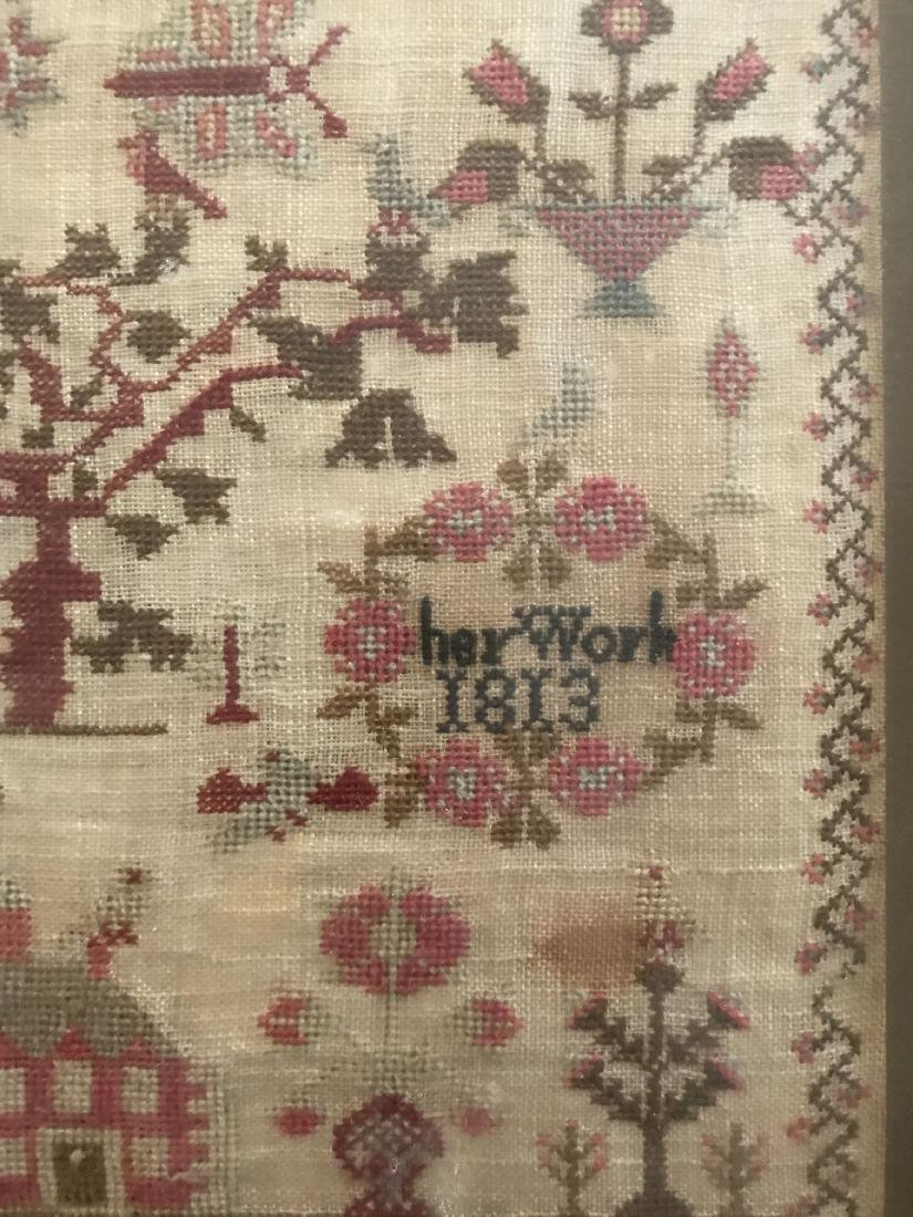 Early 19th Century Sampler. Ann Evans 1813. - 3