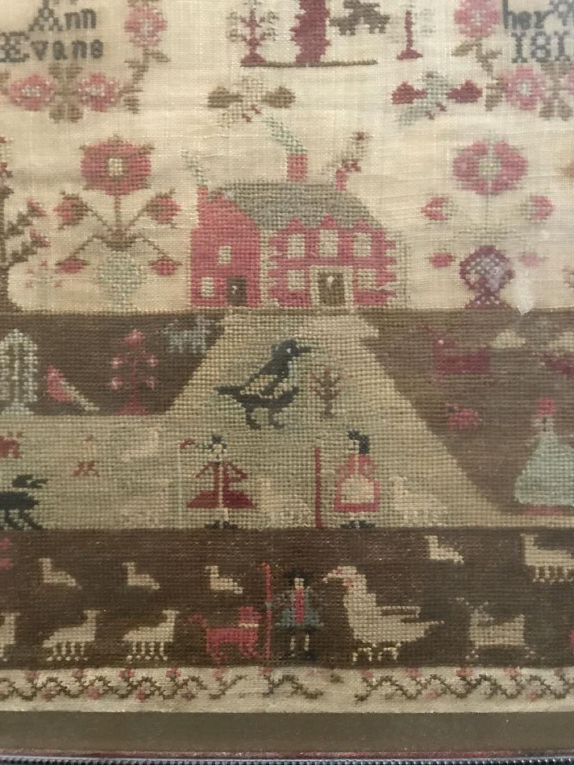 Early 19th Century Sampler. Ann Evans 1813. - 4
