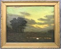 Charles Warren Eaton (1857 - 1937) Oil on Board.