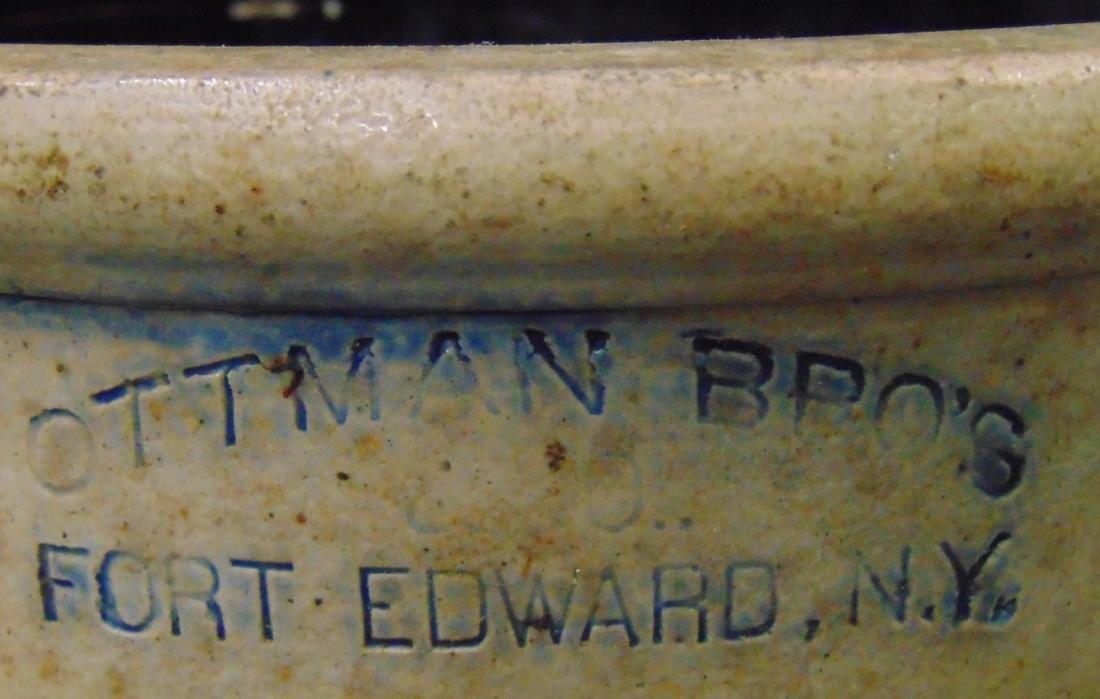 Ottman Brothers Fort Edward NY Stoneware Crock. - 2