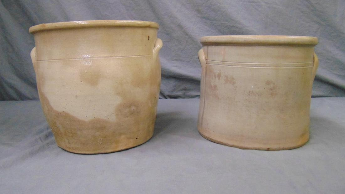 Pair of Brown Brothers Stoneware Crocks. - 9