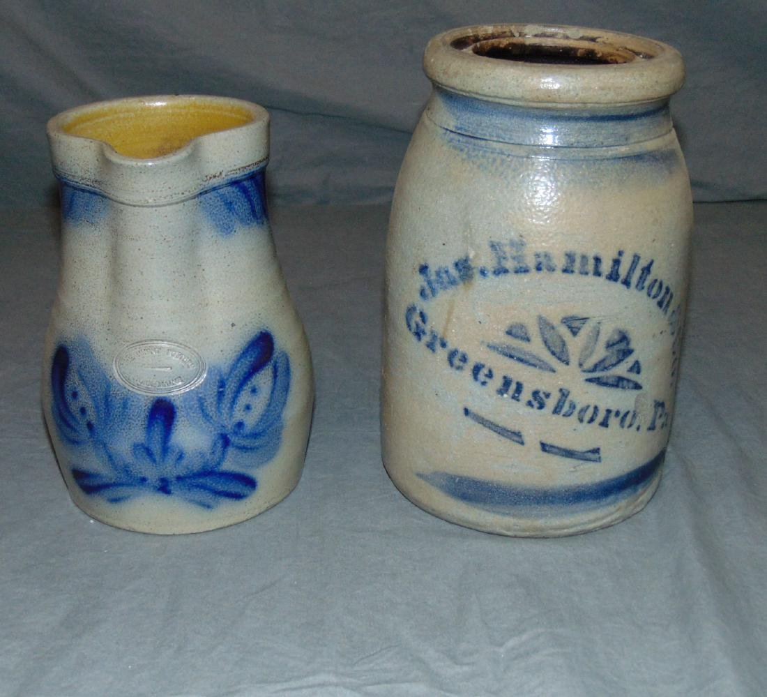 Two Piece Stoneware Lot.
