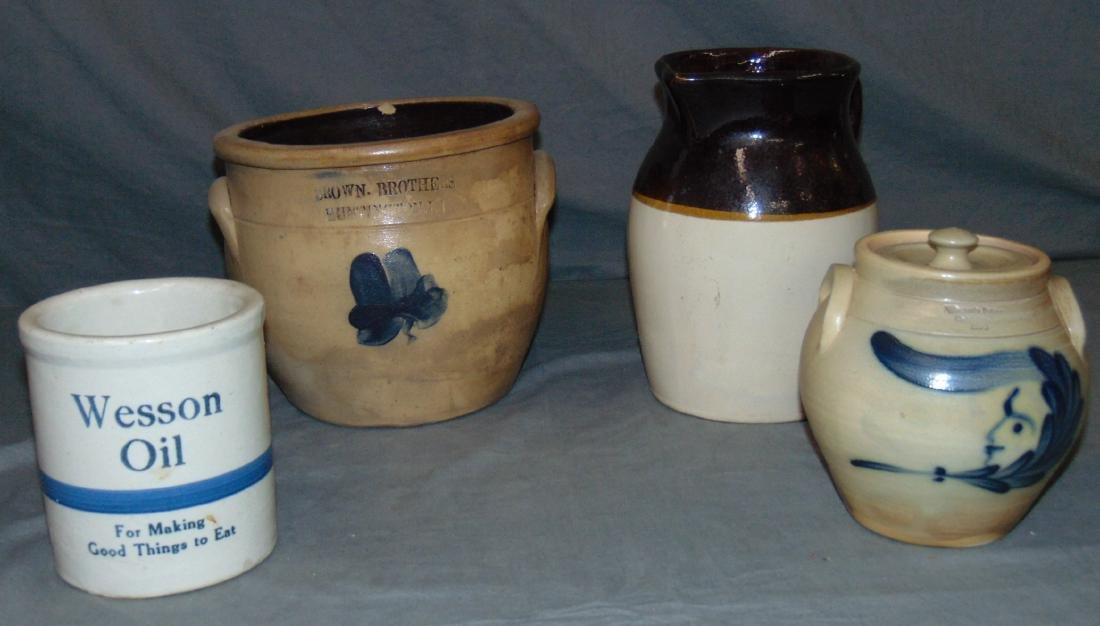 Four Piece Stoneware Lot.
