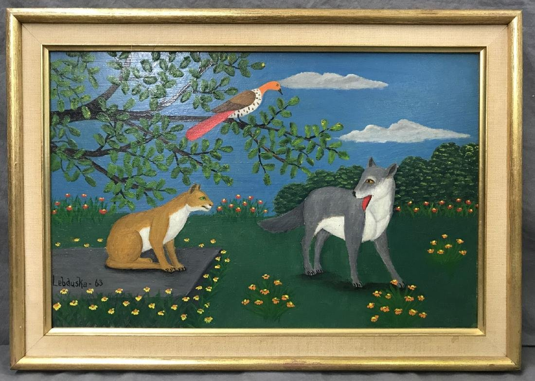 Lawrence Lebduska. 1894-1966. Oil.