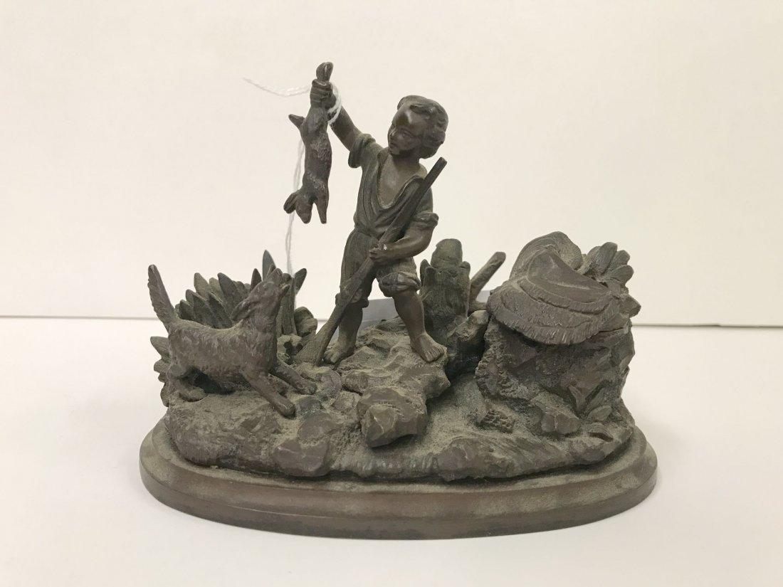 Bronze Figural Inkwell