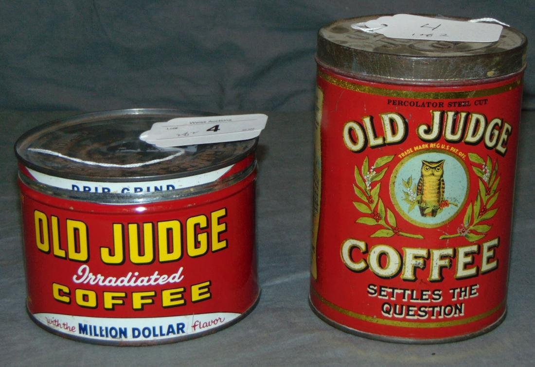 Old Judge Coffee Lot of Two.