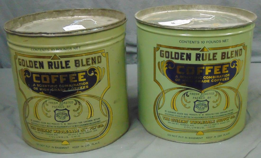 Golden Rule Blend Coffee. Lot of Two.