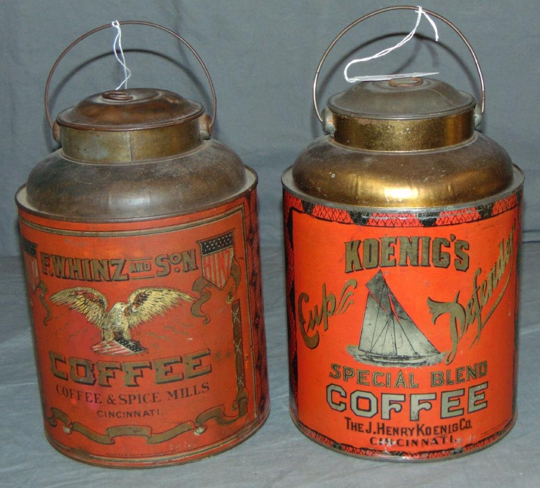 Coffee Tin Lot of Two.