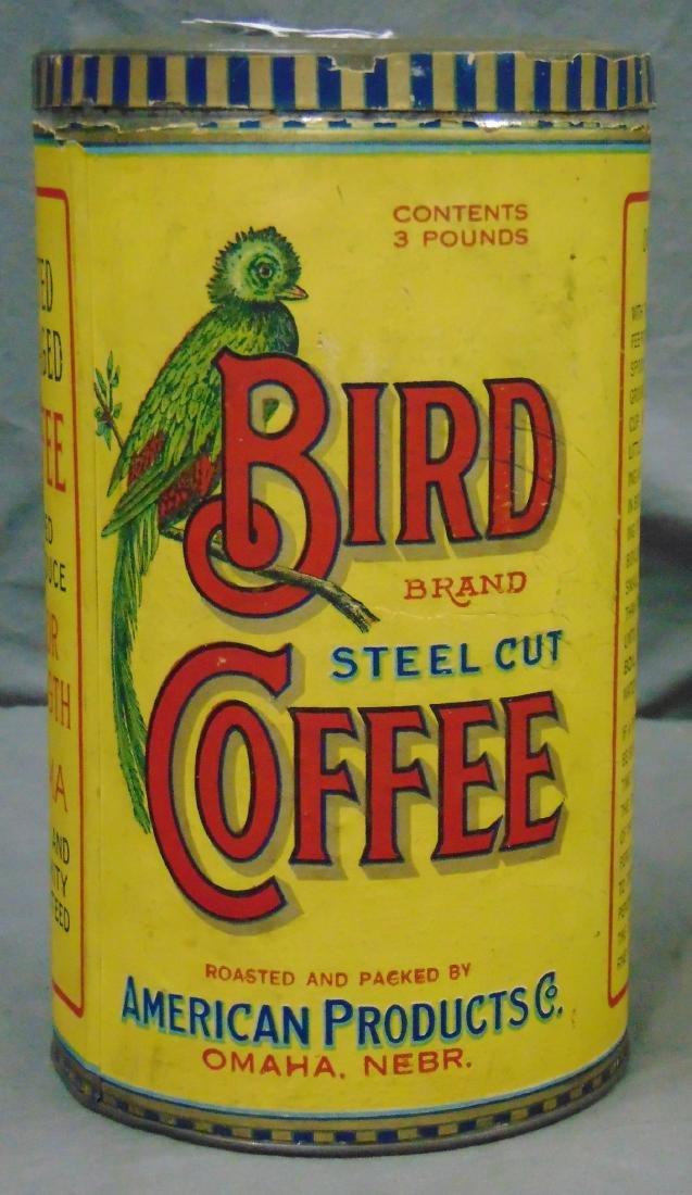 Bird Brand Coffee. 3 Pound Tin.