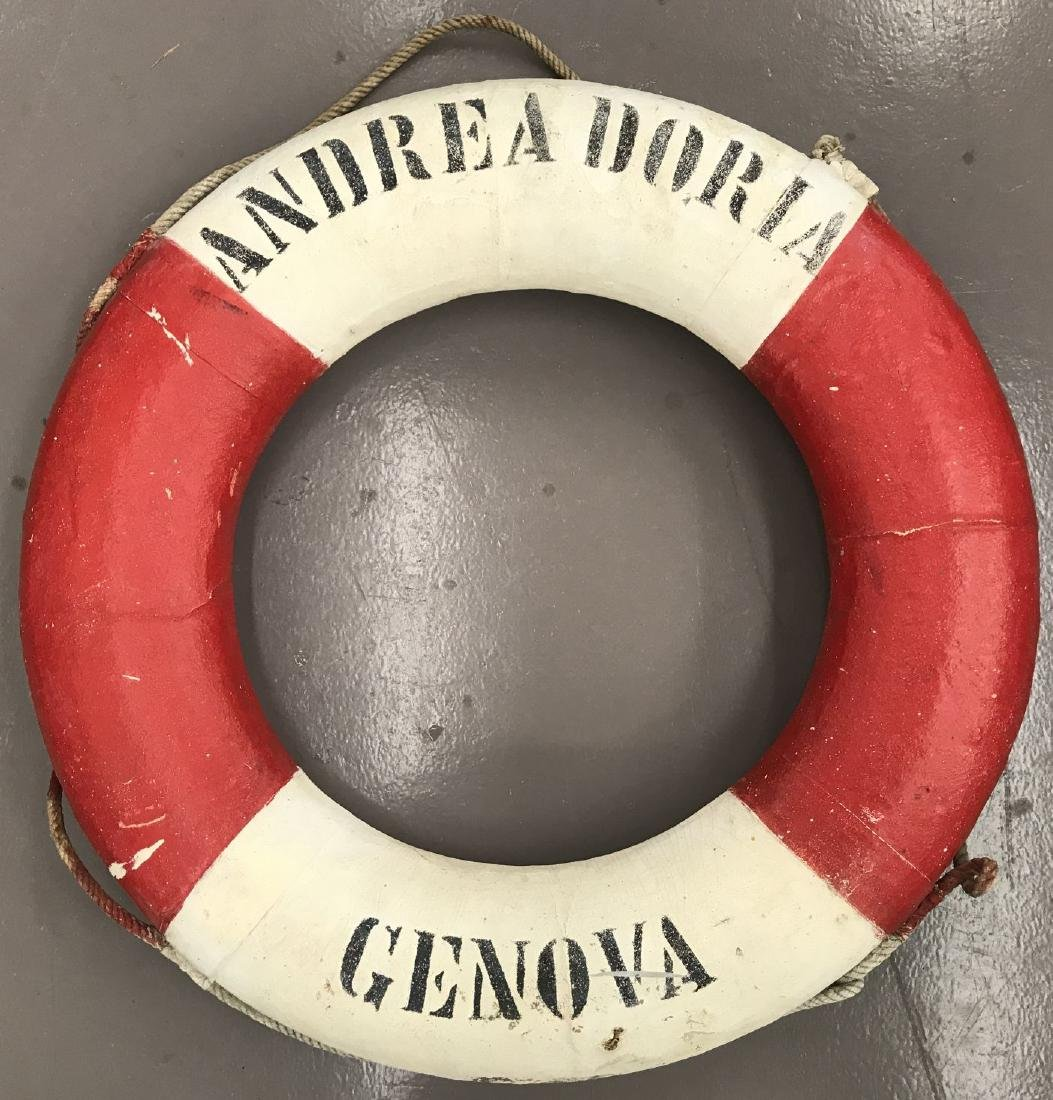 Recovered Andrea Doria Genova Life Ring