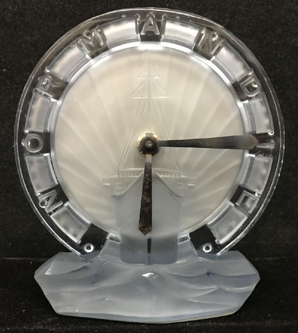 Rare, SS Normandie Maiden Voyage Glass Clock, 1935