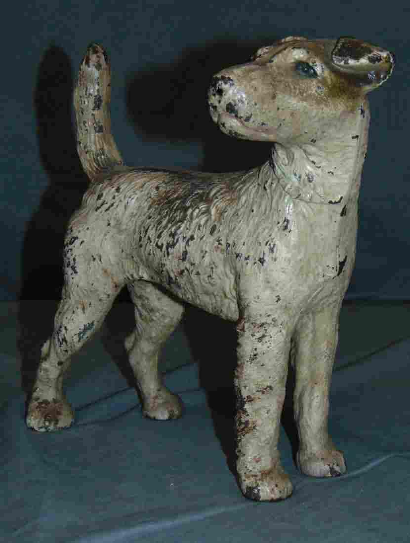 Hubley Terrier Cast Iron Dog Doorstop