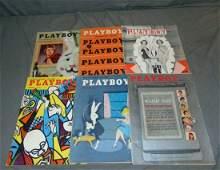 (6) Vintage 1950/60's Playboy Magazines