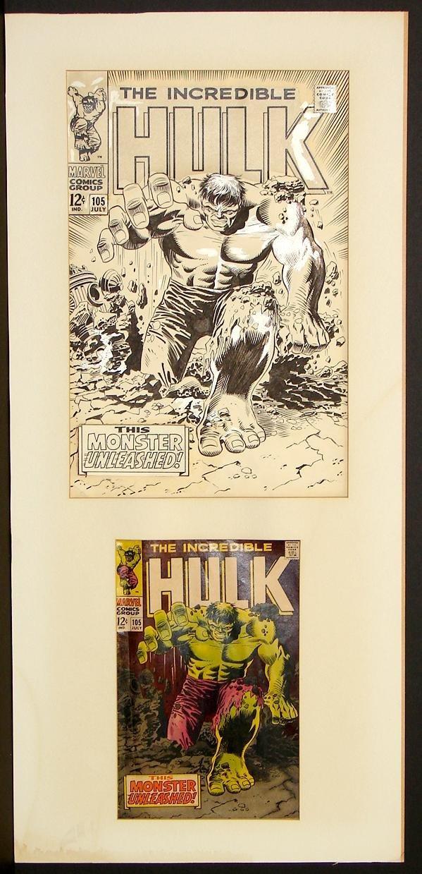4011: ORIGINAL MARVEL COVER ART. HULK 105