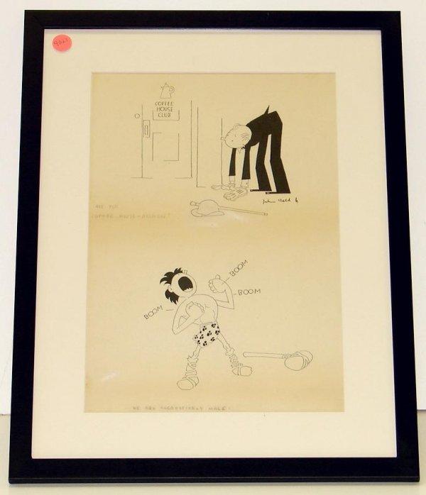 4021: JOHN HELD. ORIGINAL PEN AND INK.