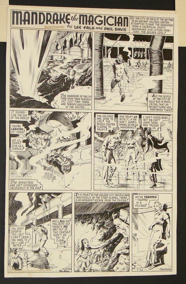 4023: ORIGINAL MANDRAKE THE MAGICIAN SUNDAY PAGE.