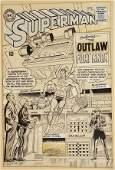 4036: SUPERMAN 179 ORIGINAL COMIC COVER ART