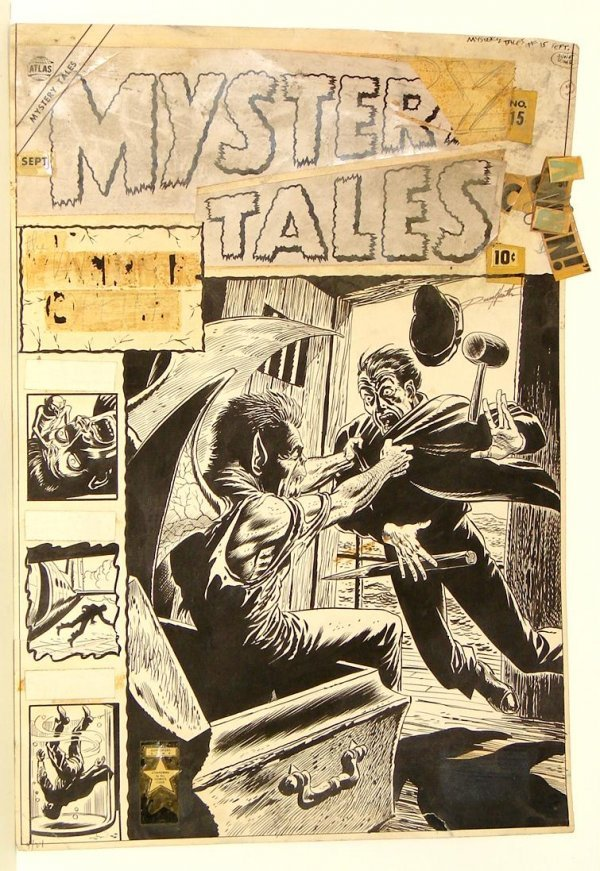 4096: MYSTERY TALES #15 ORIGINAL COVER.