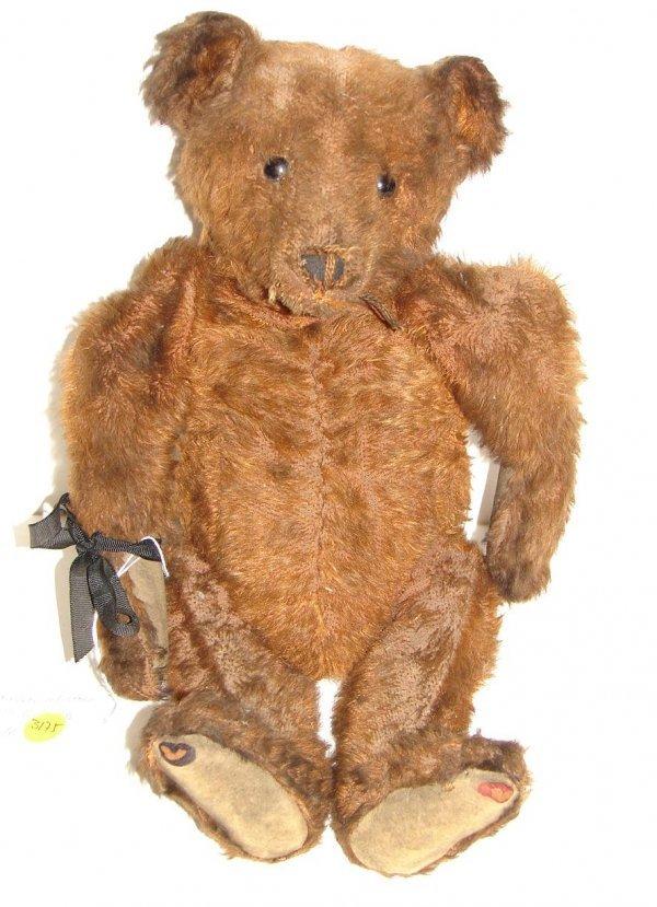 "3175: RARE 16.5"" BROWN MOHAIR BEAR."