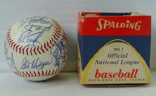 8: 1969 METS TEAM BALL, 29 SIGNATURES