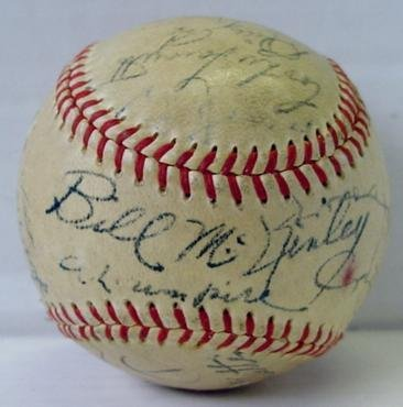 13: 1952 WORLDS SERIES BALL
