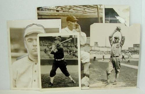 20: LOT OF 5 VINTAGE BASEBALL PHOTOS