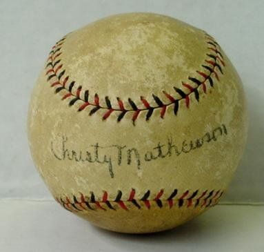 101: SIGNED CHRISTY MATHEWSON BASEBALL
