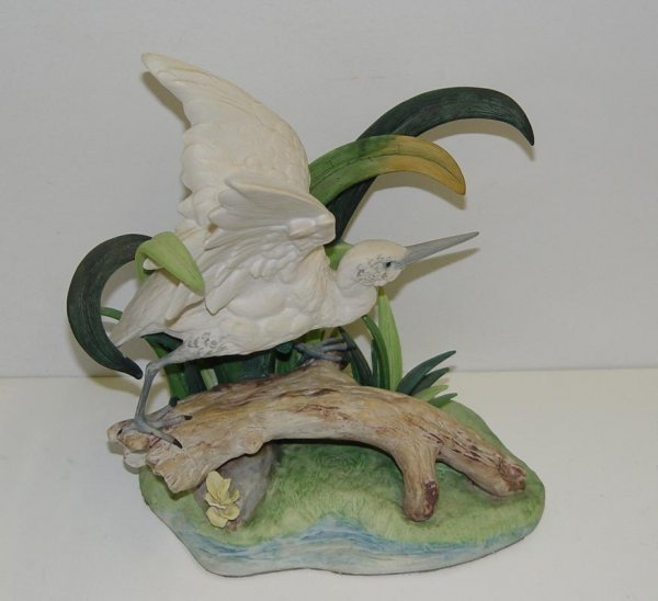 52: CYBIS PORCELAIN SIGNED & NUMBERED WHITE BIRD