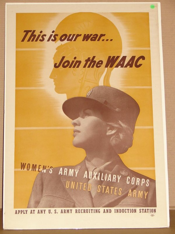 1017: ORIG. WWII RECRUITMENT POSTER