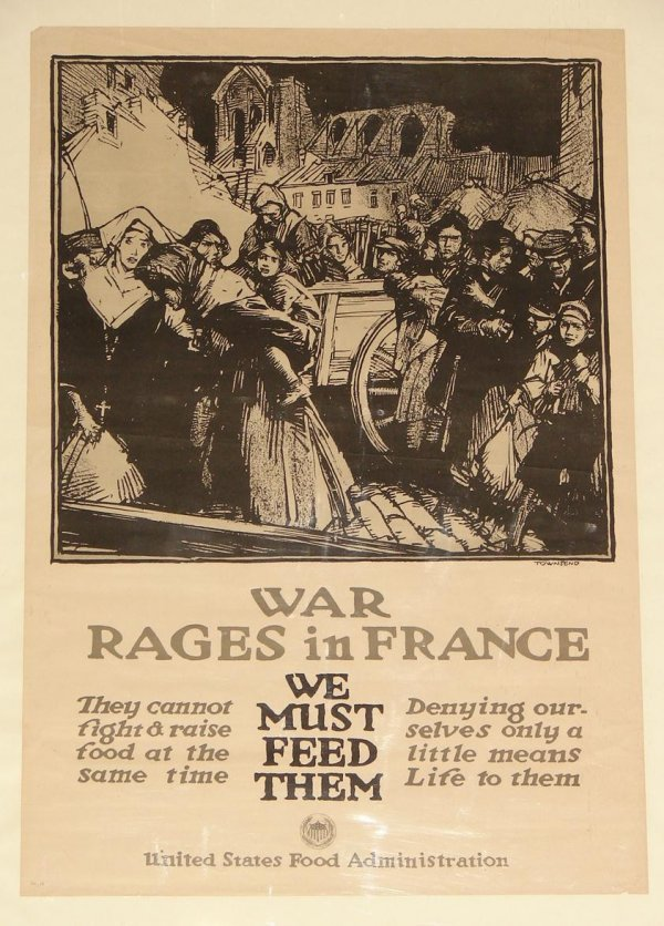 1018: ORIG. WWI POSTER - TOWNSEND