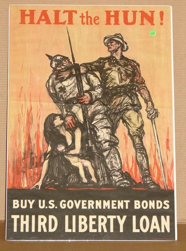 1024: ORIG. WWI POSTER - RALEIGH