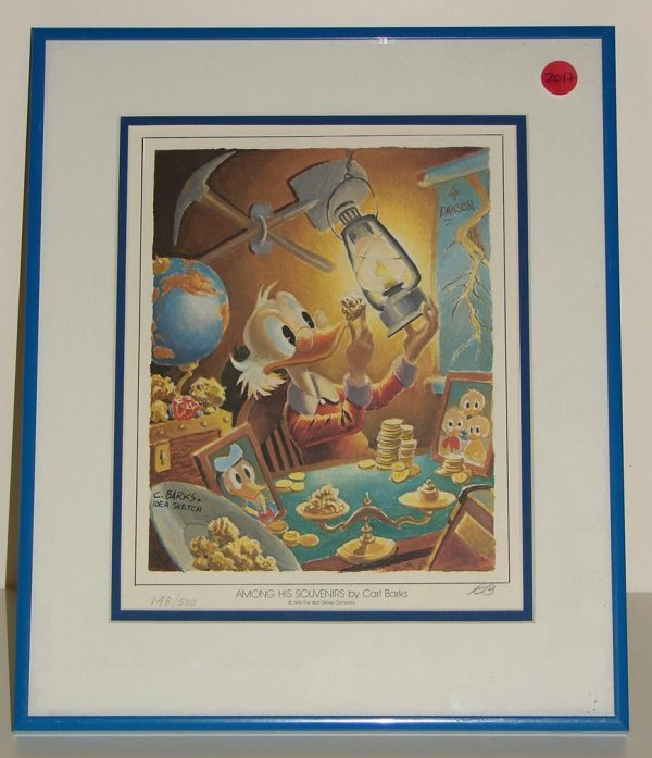 2017: CARL BARKS SIGNED DONALD DUCK LITHOGRAPH