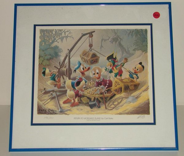 2019: CARL BARKS SIGNED DONALD DUCK LITHOGRAPH