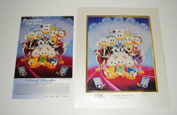 2032: CARL BARKS SIGNED DONALD DUCK LITHOGRAPH