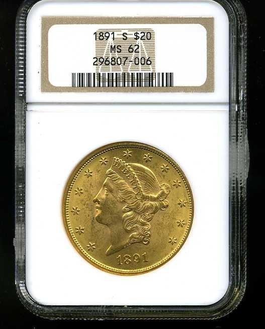 1: $20 DOUBLE EAGLE GOLD COIN