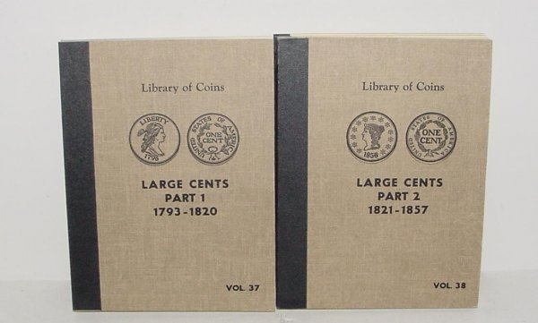 218: LARGE CENTS COLLECTION IN 2 VOLUMES